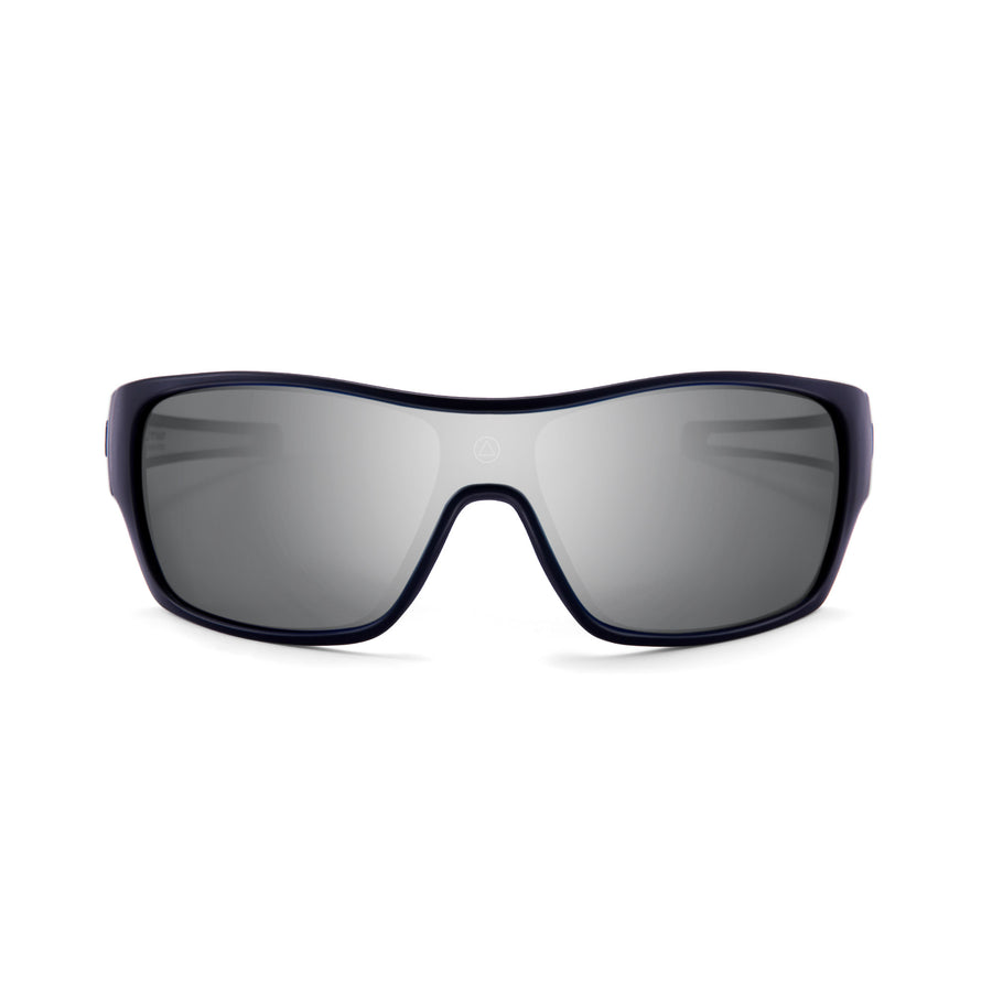 Sports cycling and running glasses for men and women Volcano Black / Mirror