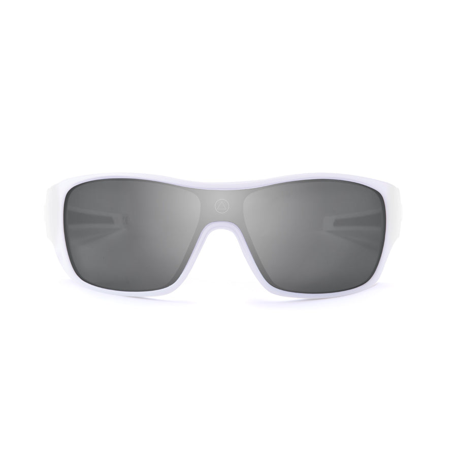 Sports cycling and running glasses for men and women Volcano White / Mirror
