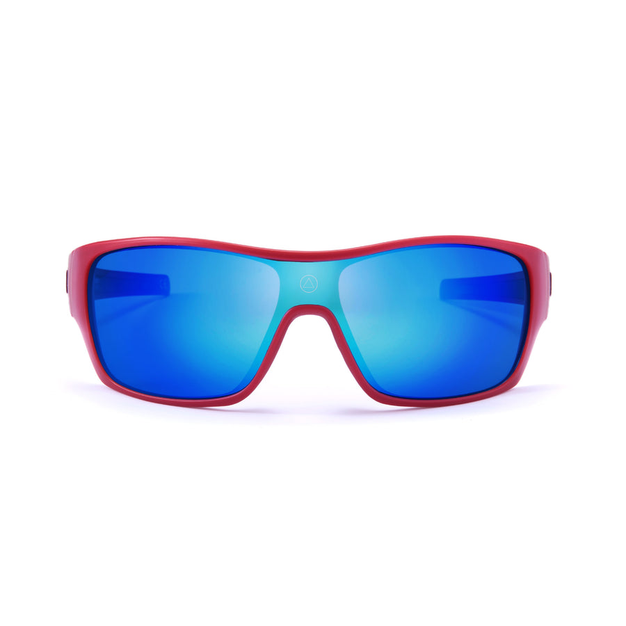 Sports cycling and running glasses for men and women Volcano Red / Blue