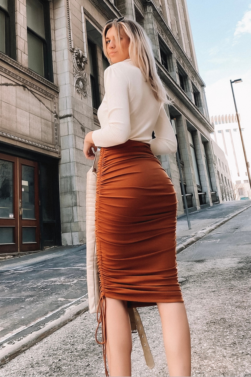 KENDALL SKIRT [RUST]