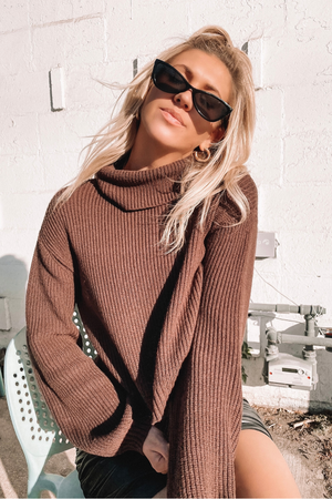 MEG SWEATER [BROWN]