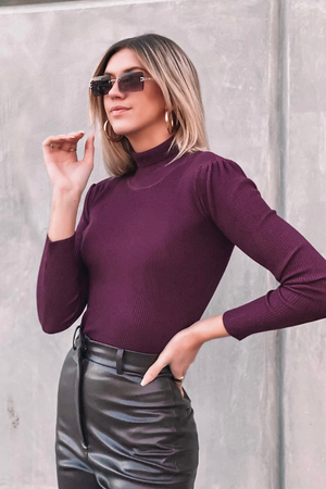 CONNIE SWEATER [PLUM]