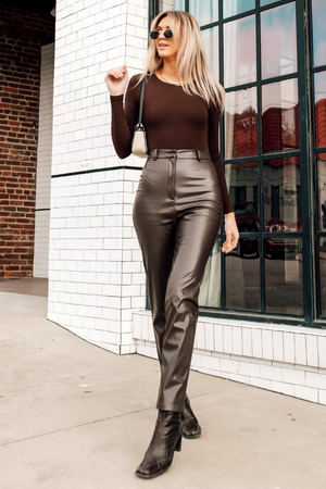 DEANNA PANTS [BROWN]