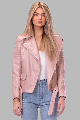 BYE BIKER JACKET [BLUSH]