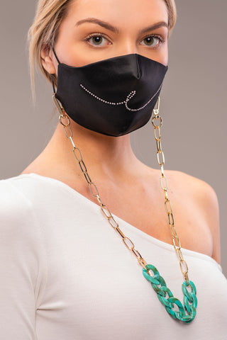 EVIL EYE MASK CHAIN [JADE]