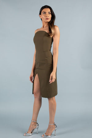 TESSA DRESS [OLIVE GREEN]