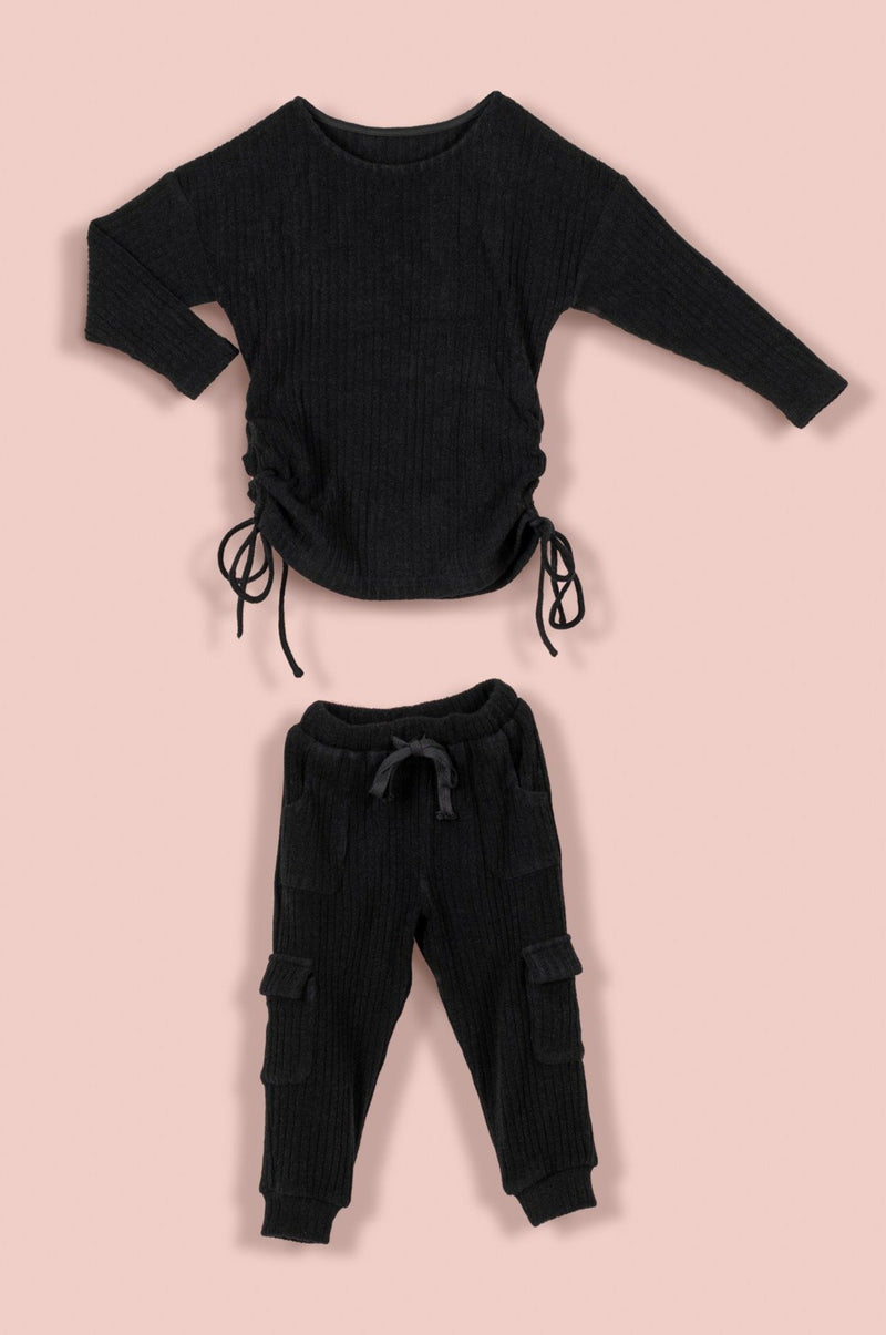 IVY ADDISON SET [BLACK]