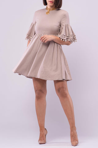 ALBA DRESS [TAN]