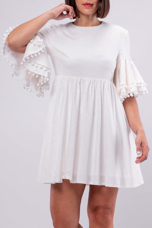 ALBA DRESS [WHITE]