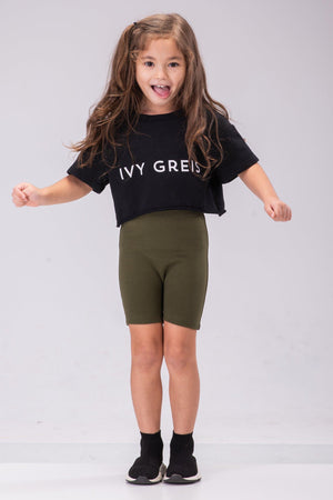 ALLIE BIKER SHORTS [OLIVE]