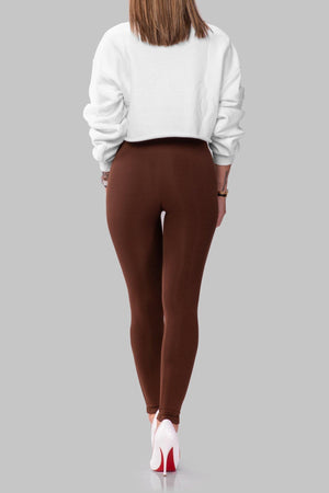 ALLIE LEGGINGS [BROWN]