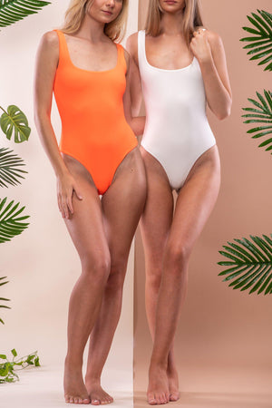 ALLURA BODYSUIT/SWIM [NEON ORANGE]