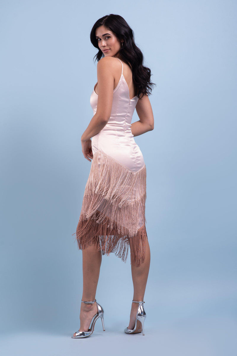 ANAISE FRINGE DRESS [OMBRE]