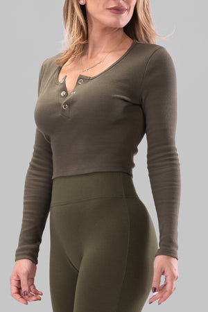 ANGELINA TOP [OLIVE]