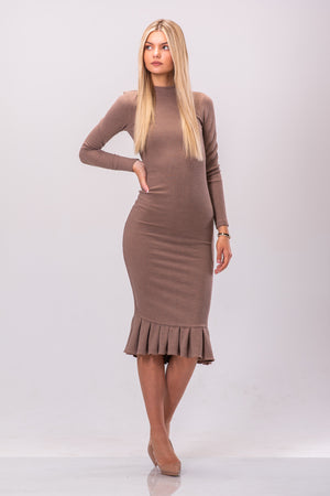 ANITA DRESS [TAN]