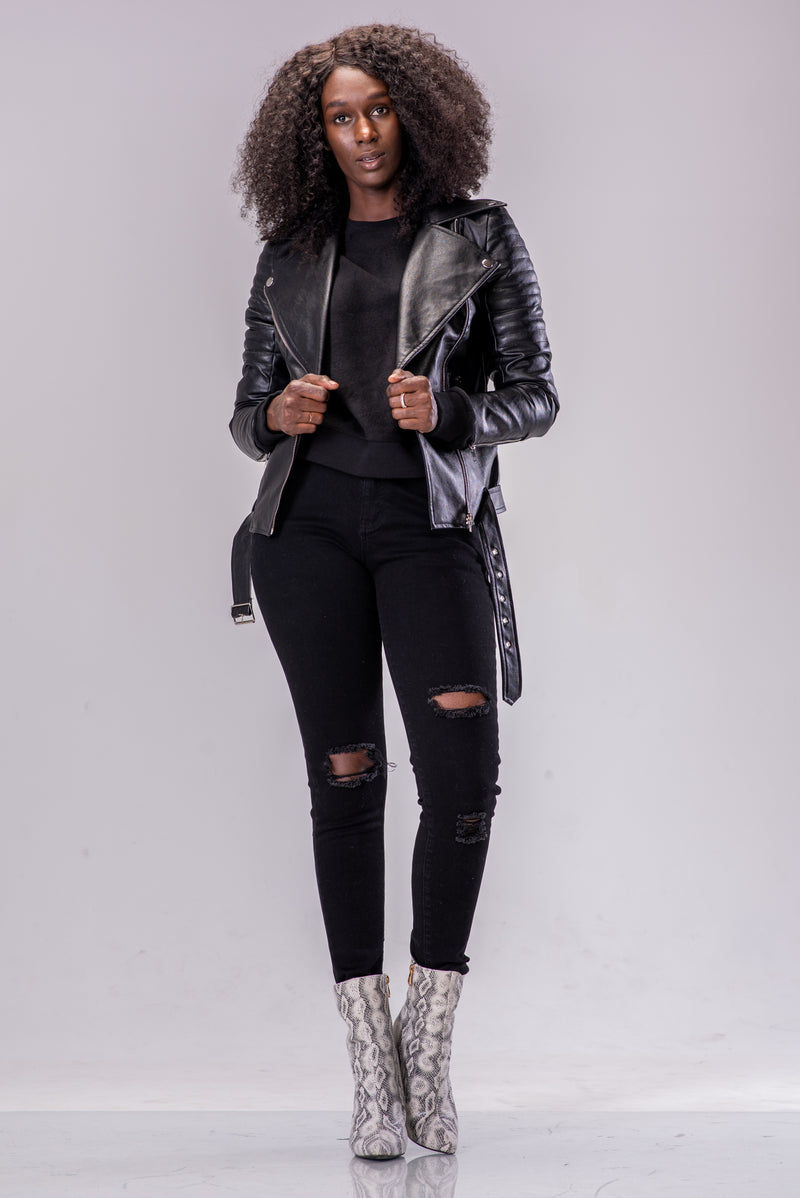 BYE BIKER JACKET [BLACK]