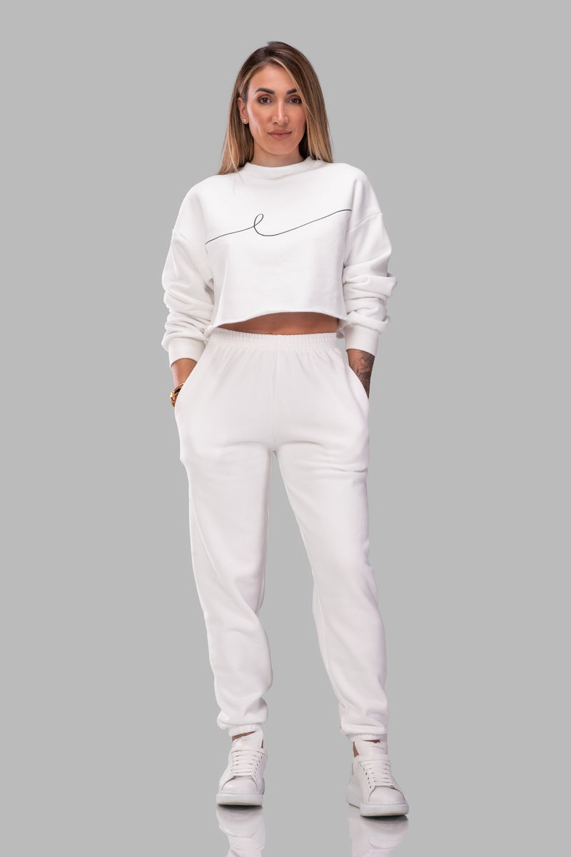 BYE CROPPED SWEATSHIRT [WHITE]
