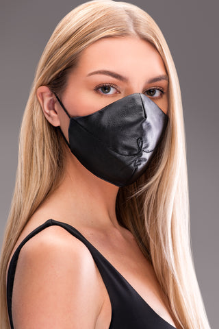 BYE LEATHER MASK [BLACK]