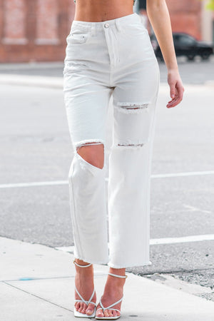BYE MOM JEANS [WHITE]