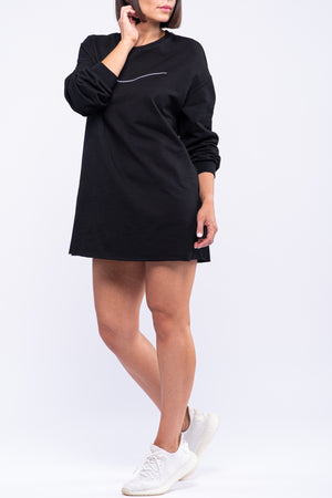 BYE OVERSIZED SIGNATURE DRESS [BLACK]