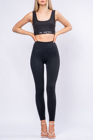 BYE LOGO SPORTS BRA [BLACK]