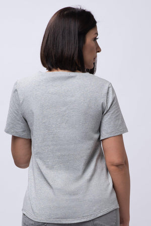 BYEGREIS T-SHIRT [GRAY V NECK]