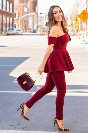 OLIVIA PEPLUM TOP