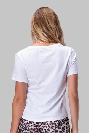 BYEGREIS T-SHIRT [WHITE V NECK]