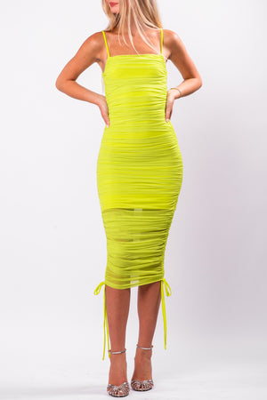 CHANTAL DRESS [NEON YELLOW]