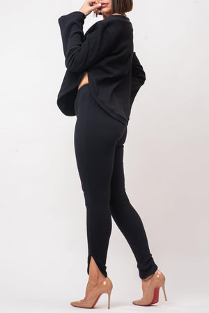 CHERRY LEGGINGS [BLACK]