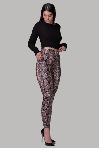 MILEY LEGGINGS [BROWN]