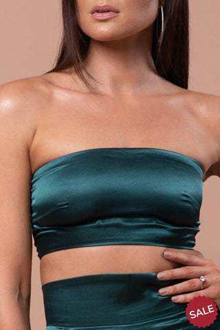 ELISE  TUBE TOP [EMERALD GREEN]