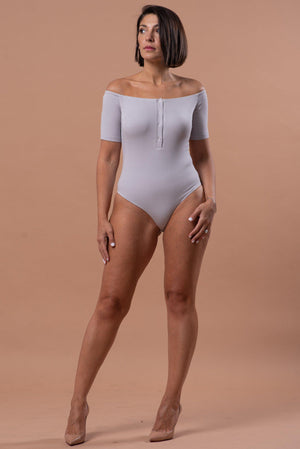 ELLIE BODYSUIT [GRAY]