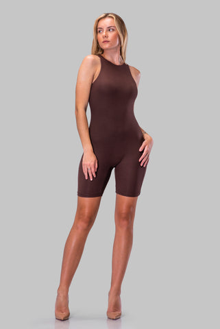 ESPERANZA ROMPER [BROWN]