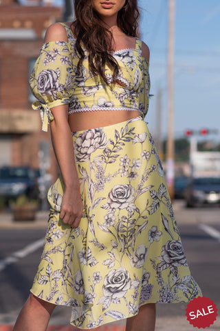 FARRAH SKIRT [YELLOW]