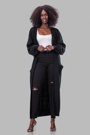 GRETCHEN CARDIGAN [BLACK]