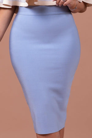 GWYNETH BANDAGE SKIRT [BLUE]