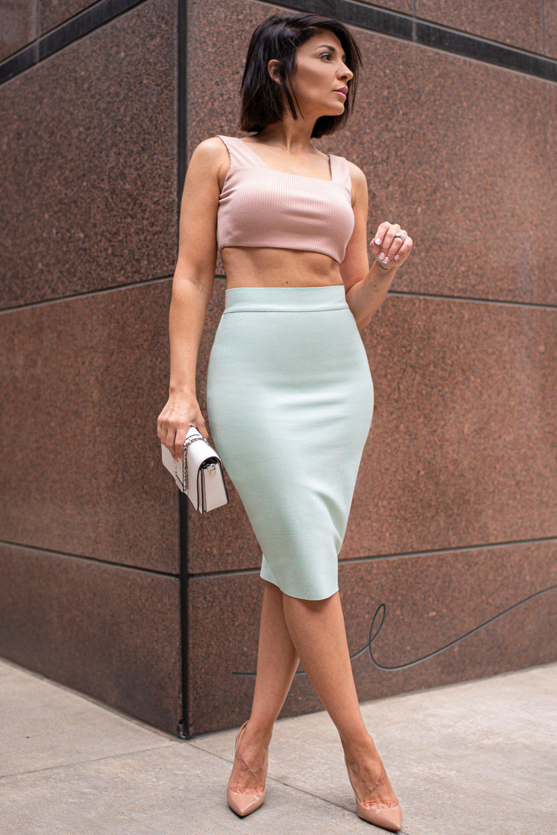GWYNETH BANDAGE SKIRT [MINT]