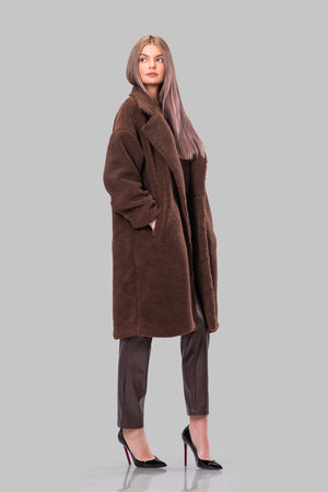 JAYDEN TEDDY COAT [CHOCOLATE BROWN]