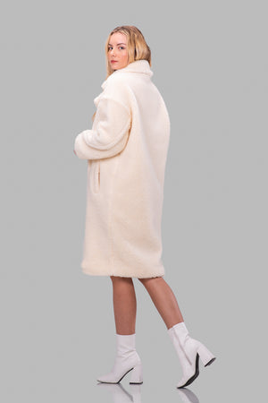 JAYDEN TEDDY COAT [CREAM]