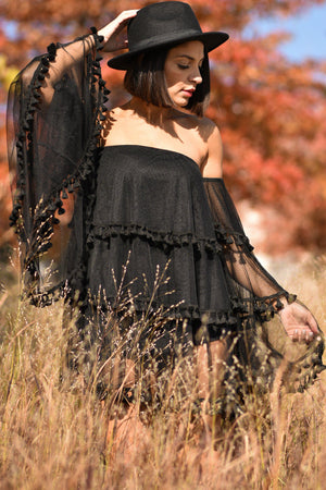 KAHLO DRESS [BLACK]