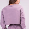 BYE CROPPED SWEATSHIRT [PURPLE]