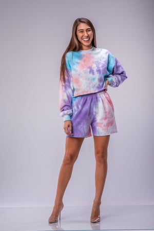 KAI SHORTS [PURPLE TIE DYE]