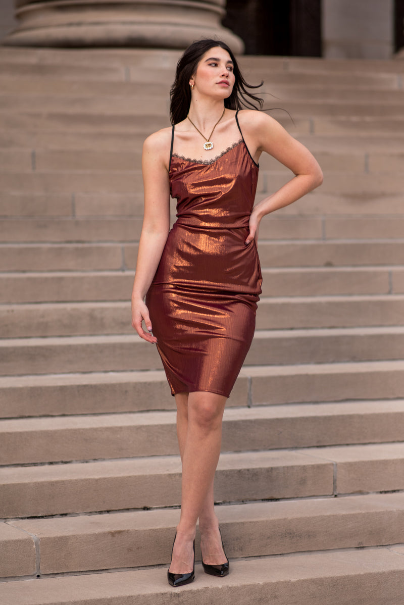 KEHLANI DRESS [COPPER]