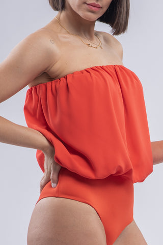 KENDRA BODYSUIT [RED ORANGE]