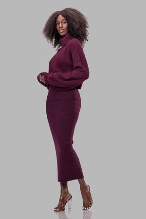 MEG SWEATER [BURGUNDY]
