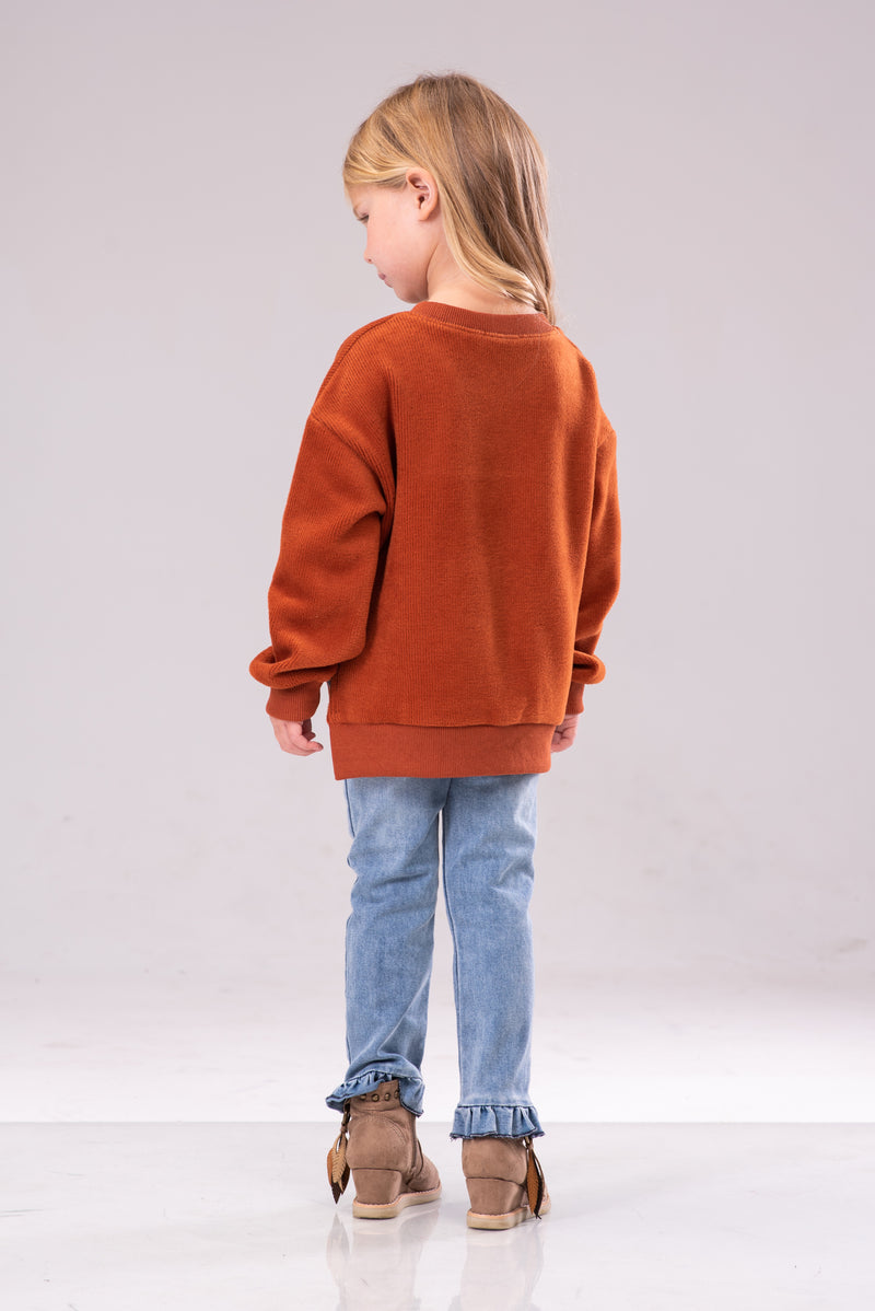 IVY LINNETTE SWEATER [ORANGE]