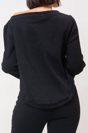 LIZZY TOP [BLACK]