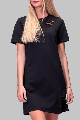 LONDON T-SHIRT DRESS [BLACK]