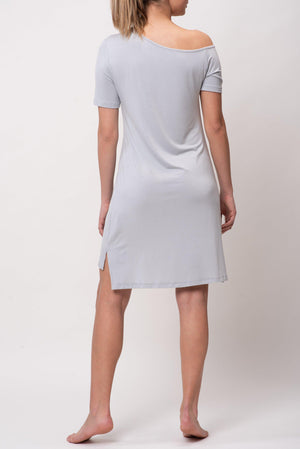 LET ME SLEEP LOUNGE DRESS [GRAY]